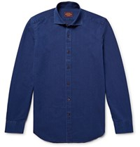 Tod's Slim Fit Denim Shirt Indigo