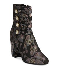 Kenneth Cole Reaction Time To Be Textile Booties Black Multi