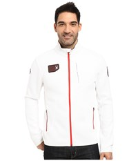 Spyder Wengen Full Zip Mid Weight Core Sweater White Red Men's Sweater
