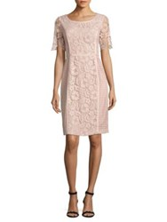 Nue By Shani Roundneck Lace Dress Pink