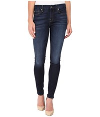 7 For All Mankind The Skinny W Tonal Navy Squiggle In Dark Canterbury Dark Canterbury Women's Jeans Blue