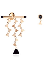 Tina Craig X Nouvel Heritage Small Onyx Asymmetrical Earrings