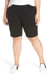 Jag Jeans Plus Size Women's Ainsley Pull On Bermuda Shorts Black