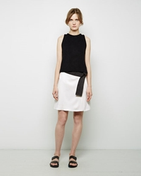 3.1 Phillip Lim Judo Detail Belted Skirt Antique White