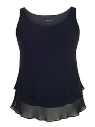Chesca Double Layer Chiffon Camisole Navy