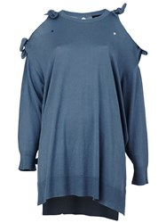 Undercover Knot Detail Oversized Jumper Blue
