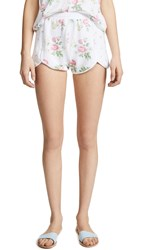 Wildfox Couture Patchwork Floral Shorts Multi Clean White