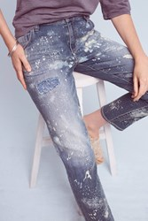 Anthropologie Pilcro Em High Rise Boyfriend Jeans Denim Medium Blue