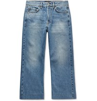 Balenciaga Cropped Denim Jeans Blue