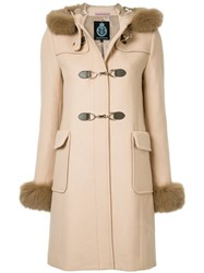 Guild Prime Hooded Duffle Coat Polyester Rayon Lambs Wool Brown