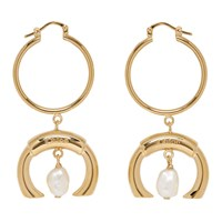 Chloe Gold Pearl Darcey Earrings