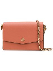 Tory Burch Robinson Small Top Handle Satchel Neutrals
