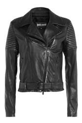 Just Cavalli Leather Biker Jacket Gr. It 38