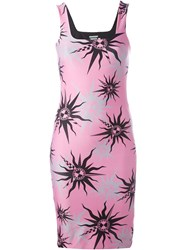 Fausto Puglisi Sun Print Fitted Dress Pink And Purple
