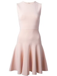 P.A.R.O.S.H. Fitted Skater Dress Pink And Purple