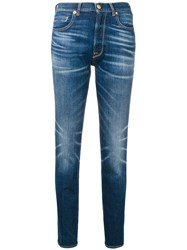 Golden Goose Deluxe Brand Faded Straight Leg Jeans Blue