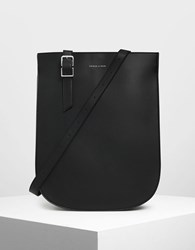 Charles And Keith Sporty Sling Tote Bag Black