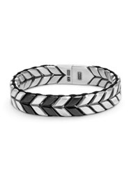 David Yurman Chevron Woven Bracelet Silver