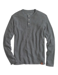 Dockers Slim Fit Alpha Waffle Knit Henley Dark Grey