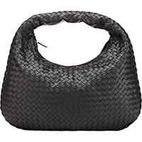 Bottega Veneta Women's Intrecciato Medium Hobo Black Blue Black Blue