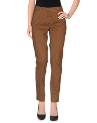 Seventy By Sergio Tegon Trousers Casual Trousers Women Brown