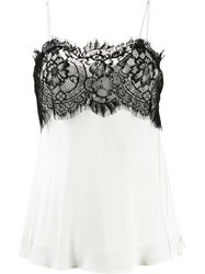 Gold Hawk Lace Detail Camisole Top White