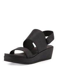 Eileen Fisher Rich 2 Slingback Wedge Sandal Black Women's