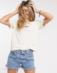 Quiksilver Washed Cropped T Shirt In White