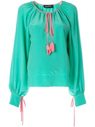 Anna October Tassel Detailed Blouse Green