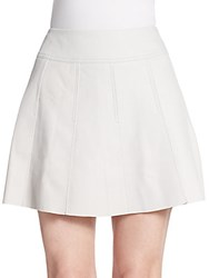 Vince Pleated Leather Skirt Sierra Silver
