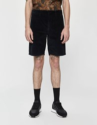 Norse Projects Aros Corduroy Short In Dark Navy