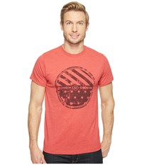 Cinch Short Sleeve Jersey Tee Red Men's T Shirt