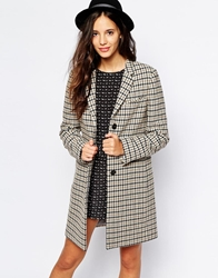 Jack Wills Tailored Wool Overcoat Brown
