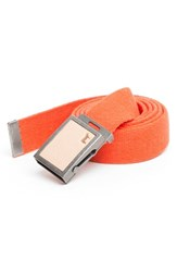 Men's Will Leather Goods 'Gunner' Belt Orange