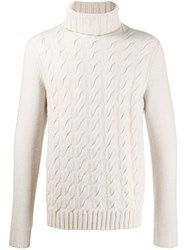 N.Peal Turtle Neck Sweater White