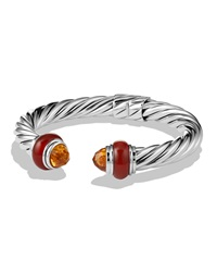 Cable Classics Bracelet With Citrine And Carnelian David Yurman