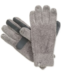 Isotoner Signature Chenille Knit Palm Tech Touch Gloves Chrome