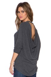 Chaser Drape Back Dolman Sweater Black