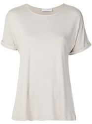 Le Tricot Perugia Basic T Shirt Nude And Neutrals