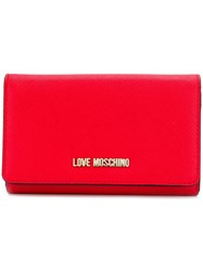 Love Moschino Foldover Wallet Red