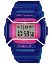 Baby G Women's Digital Blue Resin Strap Watch 40X45mm Bgd501fs 2