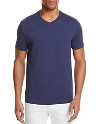 Bloomingdale's The Men's Store At Pima Cotton V Neck Tee Navy Heather