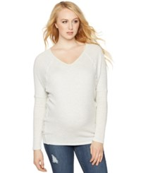 A Pea In The Pod Maternity Long Sleeve V Neck Tee Ash Grey