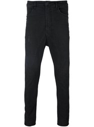 Poeme Bohemien Drop Crotch Slim Jeans Black