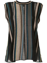 M Missoni Striped Knitted Top Multicolour
