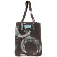 J. D'cruz Brown And Aqua Portobello Shopper Blue Brown Silver