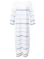 Lemlem Tiki Side Panel Dress White