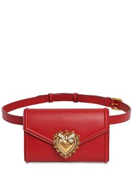 Dolce And Gabbana Devotion Leather Belt Bag Rosso Papavero