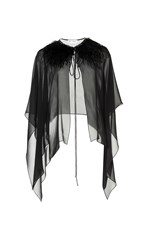 Dice Kayek Feather And Silk Cape Black