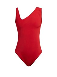 Haight Lucia Asymmetric Swimsuit Red